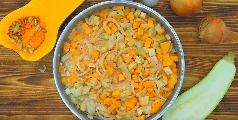 овощи со сливками