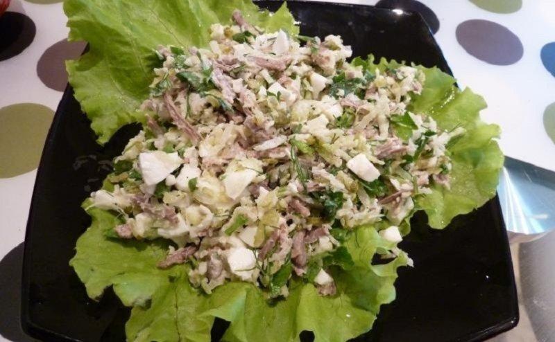 необычный салат с редькой