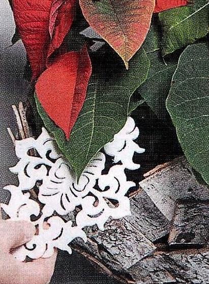 снежинка в цветке