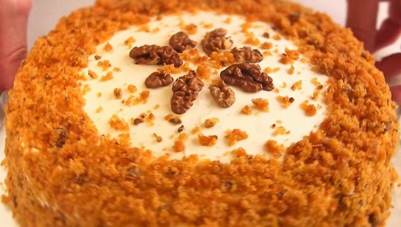 Морковный торт — самый простой и вкусный рецепт в домашних условиях