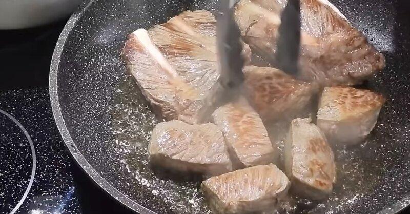 обжарка мяса