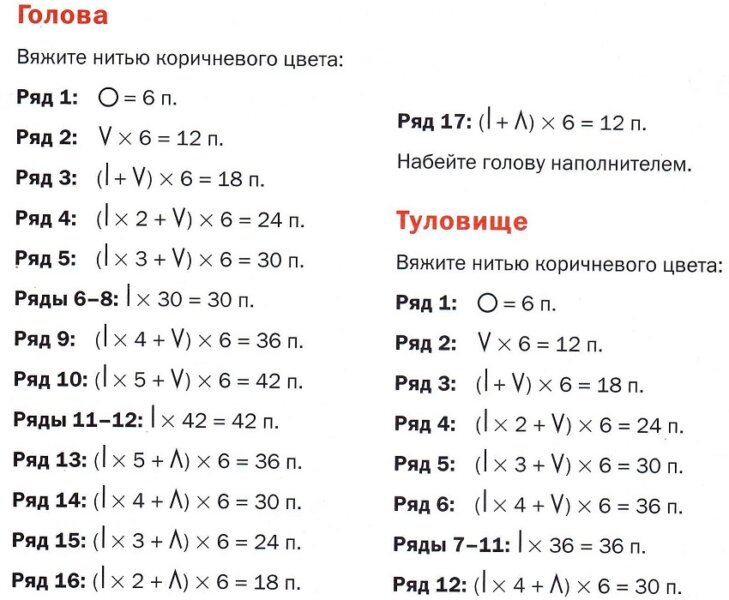 Амигуруми для начинающих — схемы с описанием работы крючком