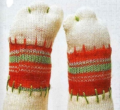 лапки с пальчиками