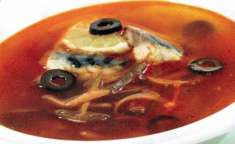 солянка с рыбой