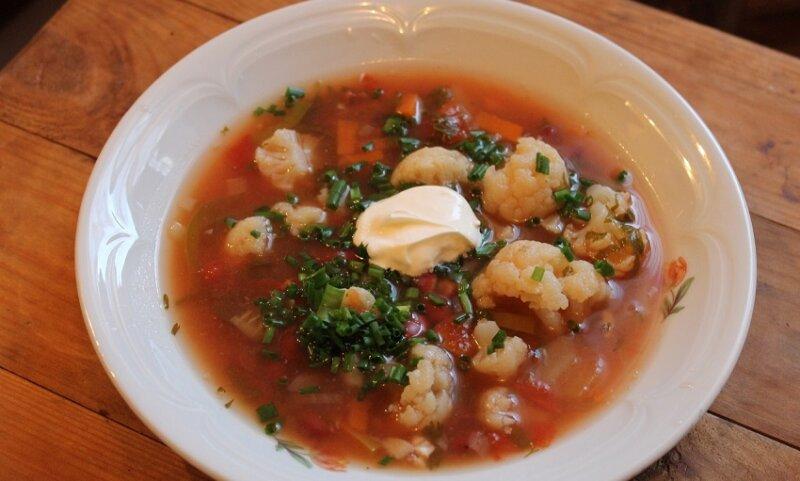 томатный суп с капустой