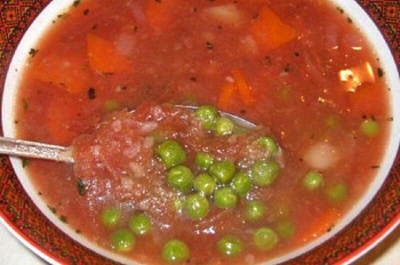суп с горошком