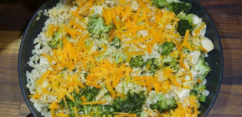 сыр сверху капусты