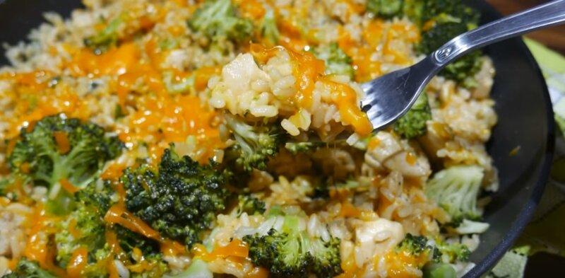 готовое блюдо курицы с рисом