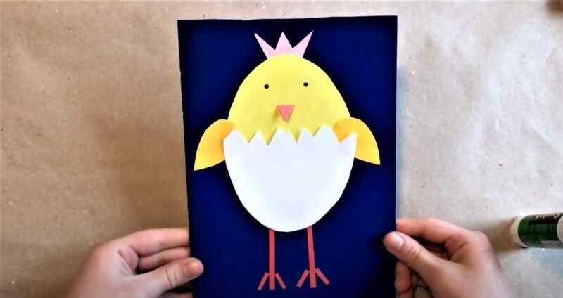 детская аппликация - яйцо
