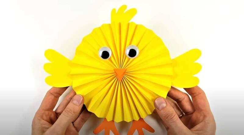 аппликация детская - цыпленок