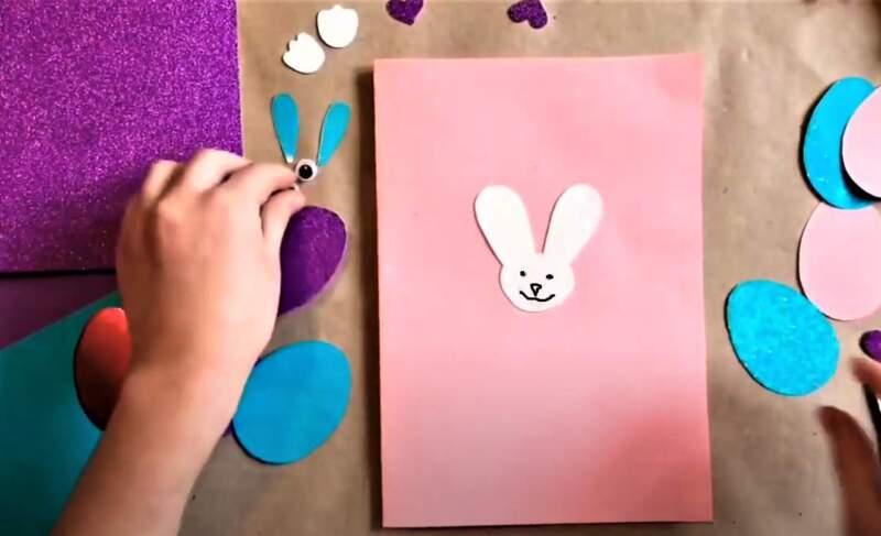 голова зайца из бумаги