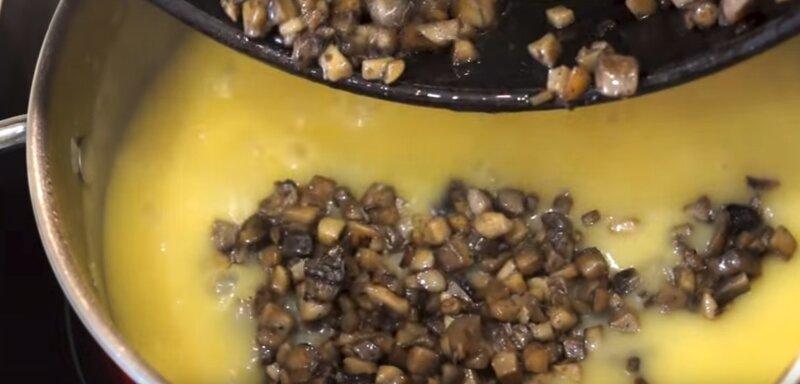 грибы в супе