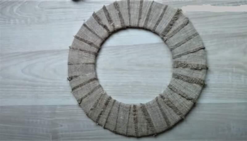 круг с мешковиной