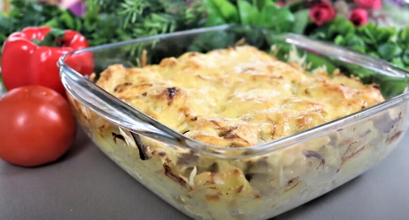 блюдо с курицей и картошкой