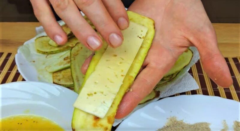 шницель из кабачка