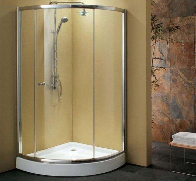 угловая душевая кабина для ванной комнаты