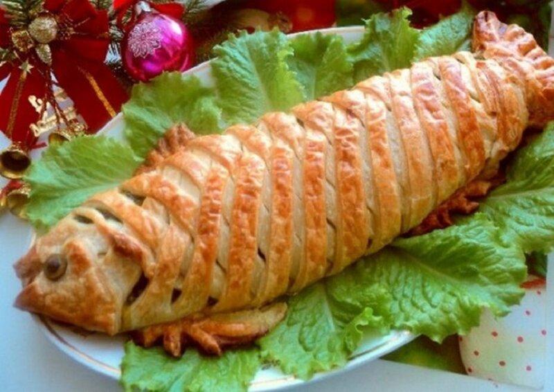 пирог из лосося