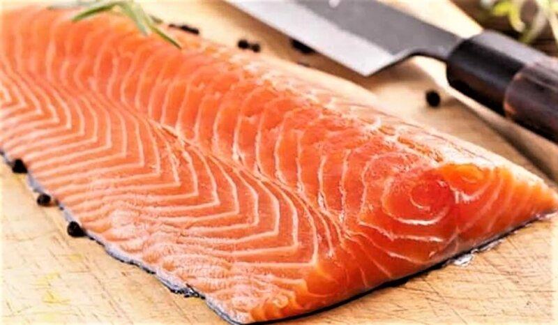 лосось в виде филе