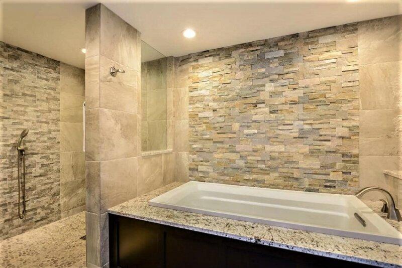 зонирование комнаты ванной