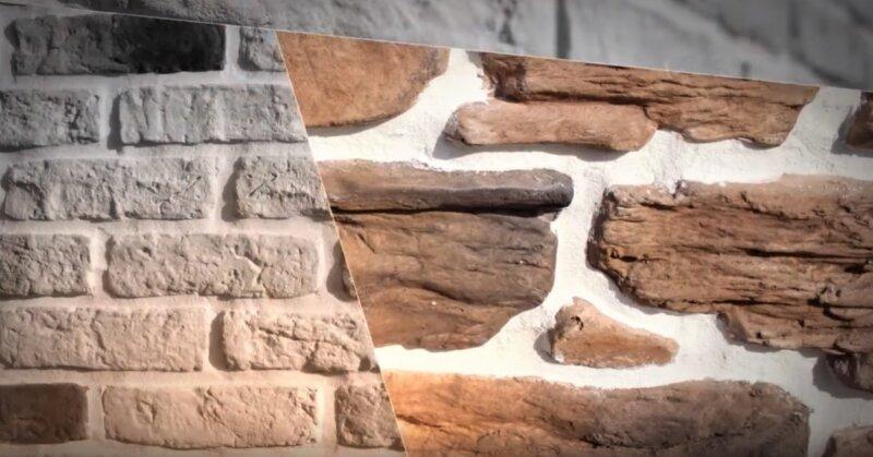 натуральный камень на фасаде здания