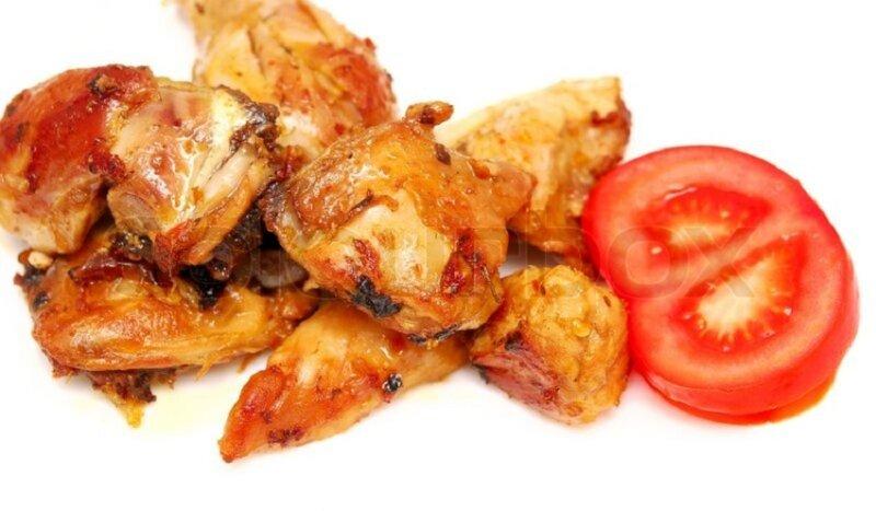 кусочки жареной курицы