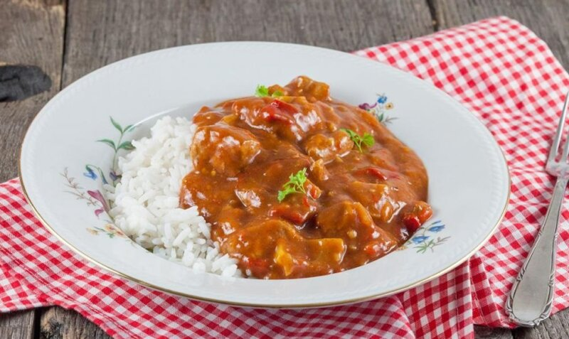 подлива с рисом и мясом