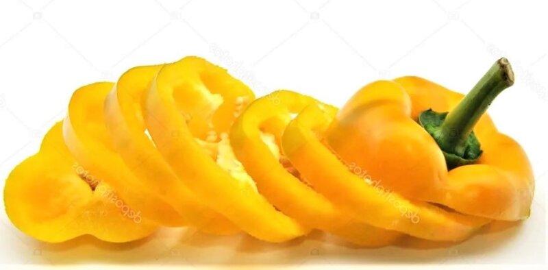 кольца желтого перца