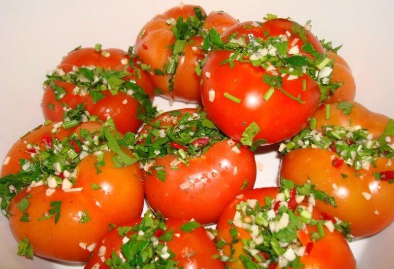 Помидоры фаршированные на зиму — рецепты заготовок из помидор