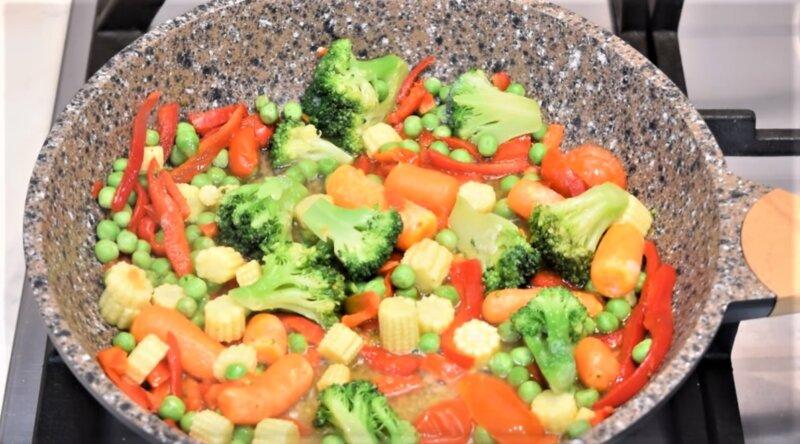 смесь из овощей