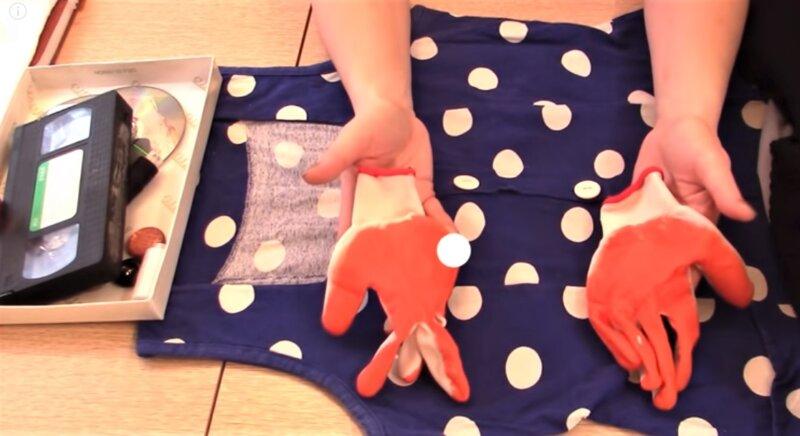 перчатки на руки на чучело