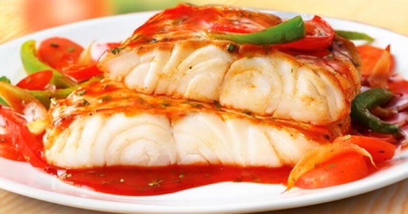 рыбное филе в соусе