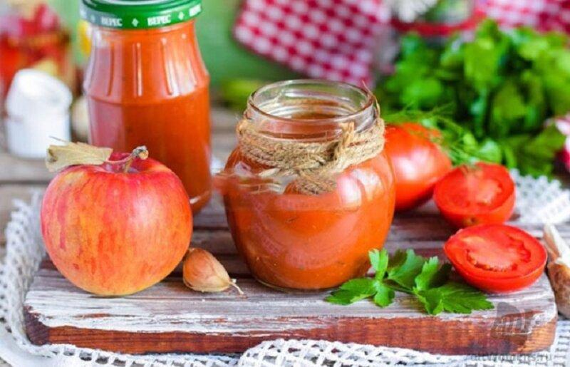паста с яблоками