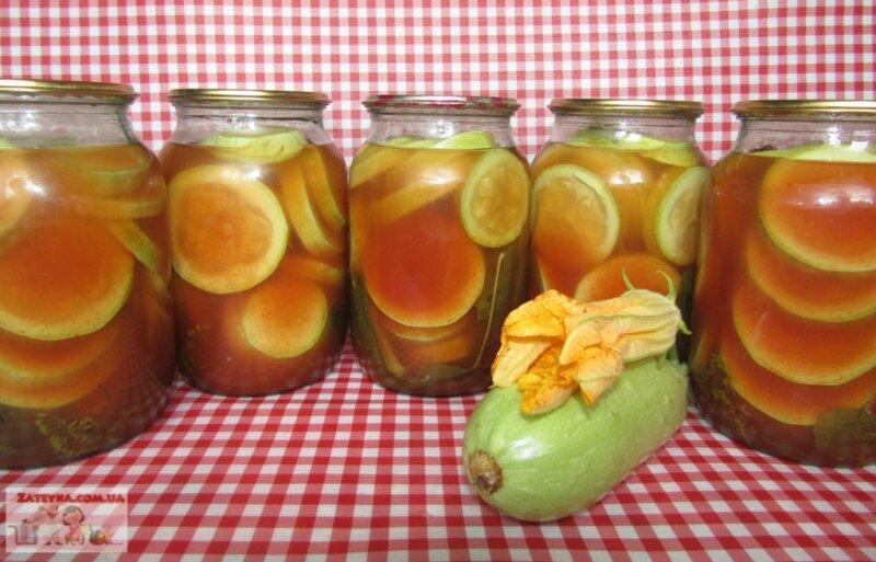 кабачки на зиму с томатным соком