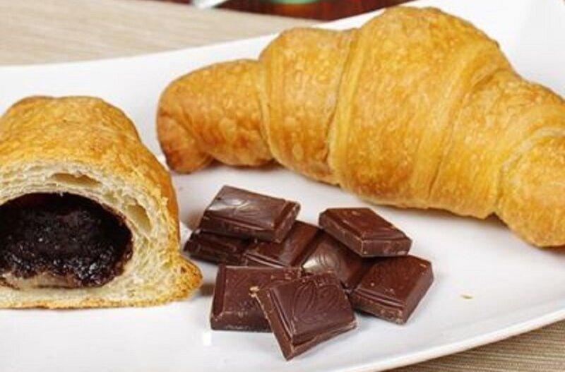 рогалики с шоколадом