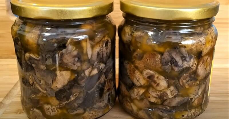 жареные грибы в масле