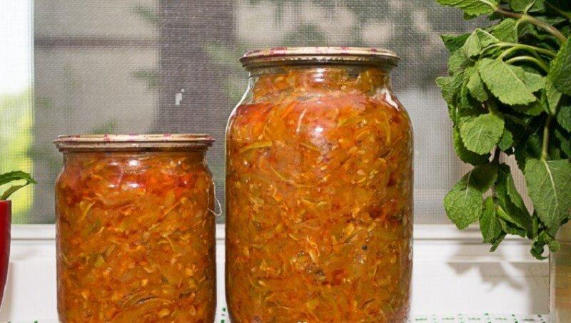 кабачки с томатным соусом на зиму