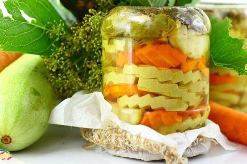 кабачки в банке на зиму с морковью