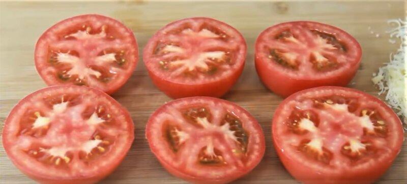 половинки помидоров