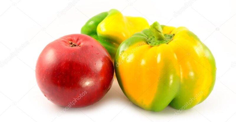 яблоко и перец