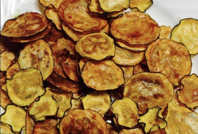 баклажанные чипсы