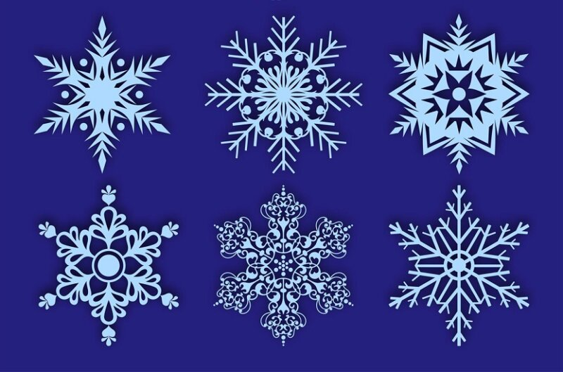 снежинки орнамент