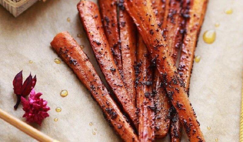 морковь с маком