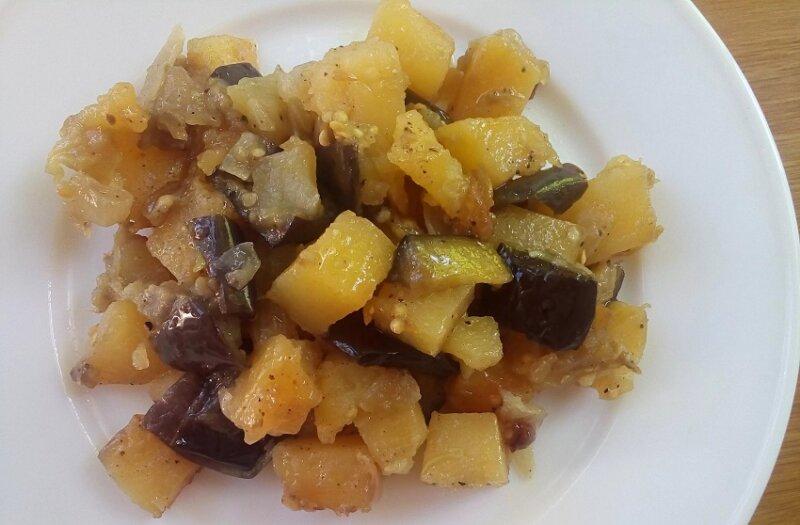 баклажаны с картошкой