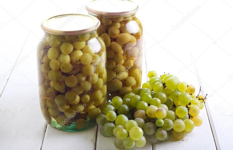 заготовка с виноградом