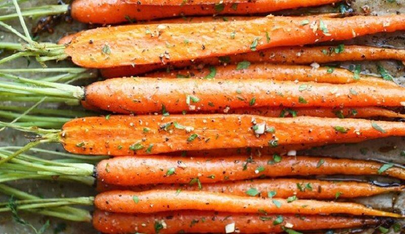 морковь целиком в духовке