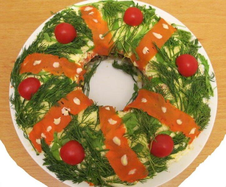 салат рождественский