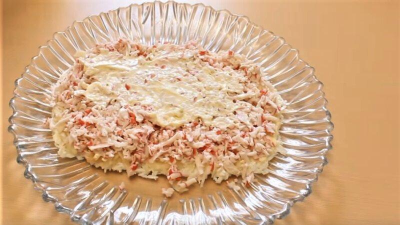 слой крабового мяса