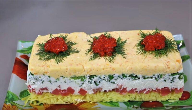 популярный салат на новый год