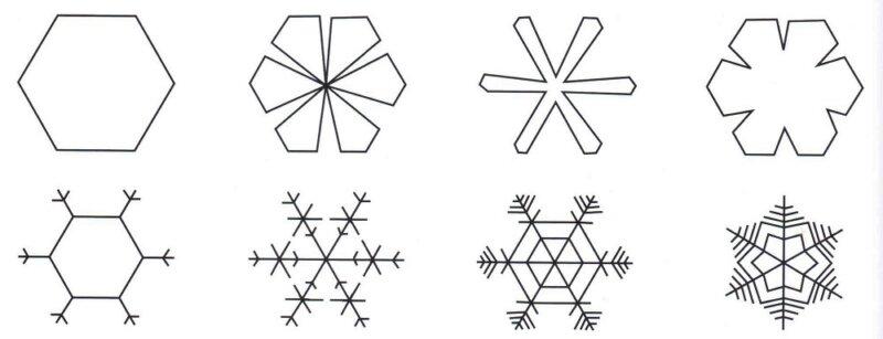 схемы снежинок