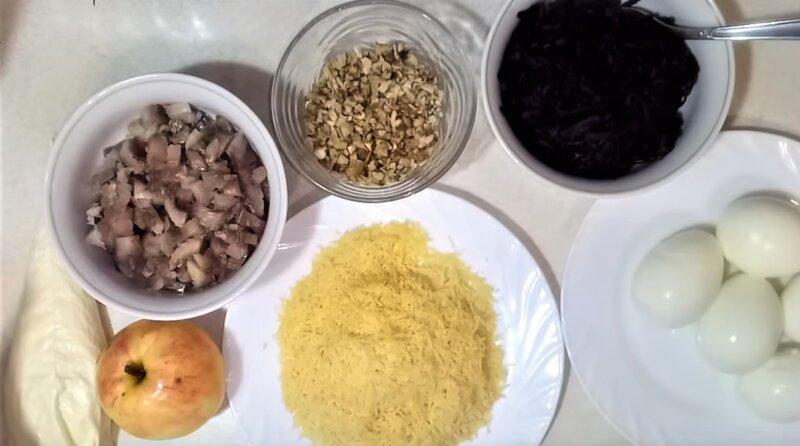 ингредиенты для идеи салата